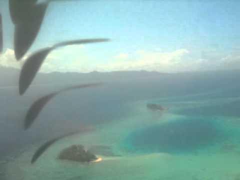 flight to Marovo Lagoon, Solomon Islands