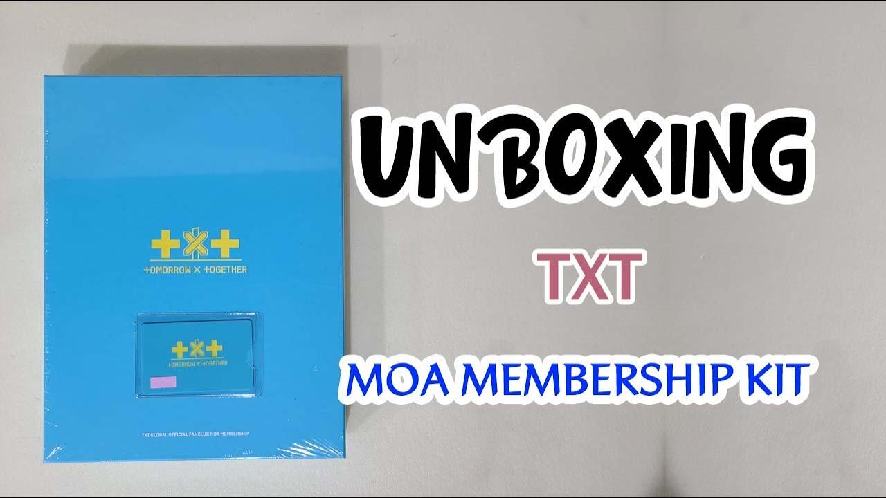 TXT 글로벌 공식 팬클럽 MOA 멤버쉽 키트 개봉 후기