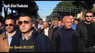 protesta opozites 8 dhjetor 2015
