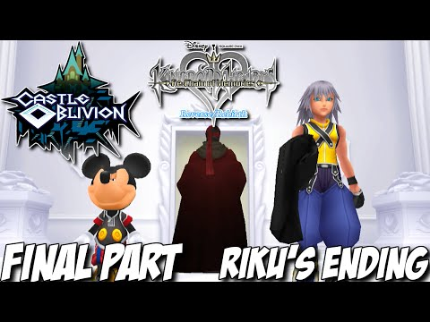 Kingdom Hearts Re: Chain of Memories Gameplay Walkthrough Part 38 - Castle Oblivion - Riku's Ending
