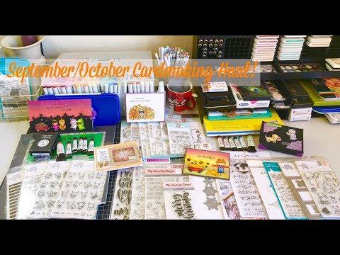 September/October Cardmaking Hauls!  MFT, Altenew, Neat & Tangled    Destash info!