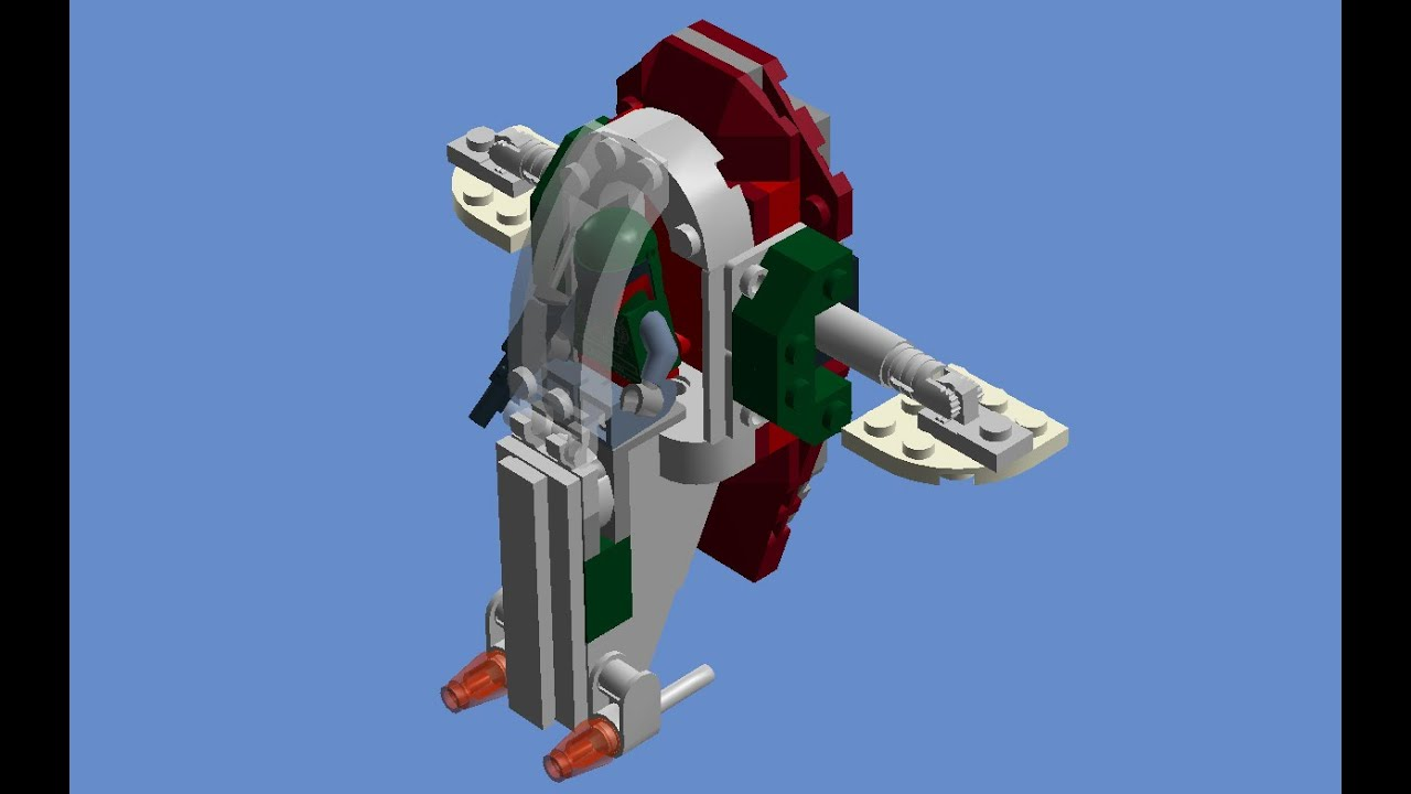 Lego Instructions Star Wars Microfighter Slave 1 Youtube