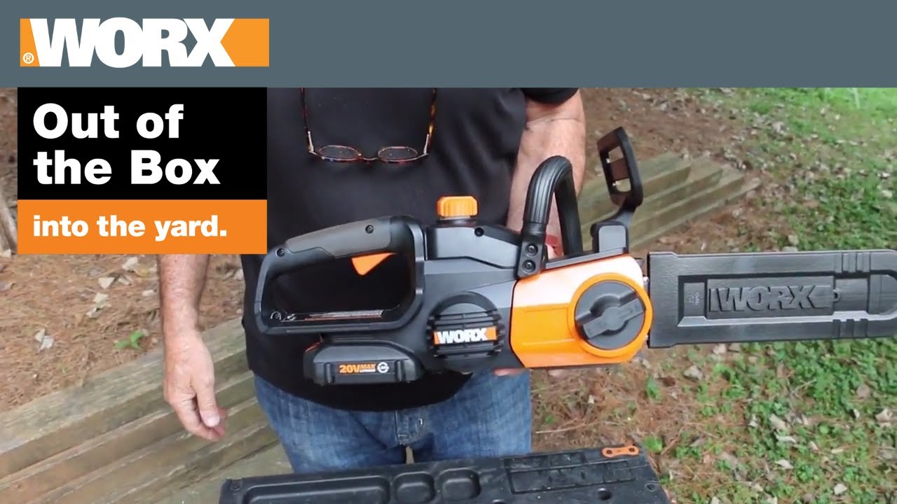 Worx cordless chainsaw out of the box youtube worx cordless chainsaw out of the box greentooth Choice Image