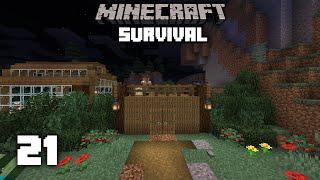 Minecraft: Village Wall Design! - 1.15 Survival Let's play | Ep 21
