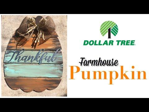 DIY | DOLLAR TREE FARMHOUSE PUMPKIN