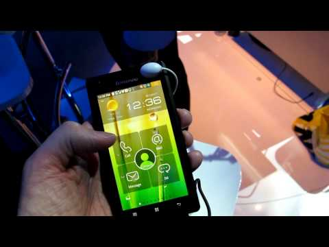 Lenovo K800 Intel-based Android smartphone from CES 2012