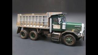 AMT Autocar DC9964B Dump Truck 1/25 Scale Model Kit Build Review AMT1150