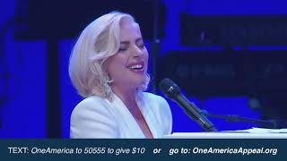 Lady Gaga - Million Reasons / Yoü and I / The Edge of Glory live at One America Appeal Video