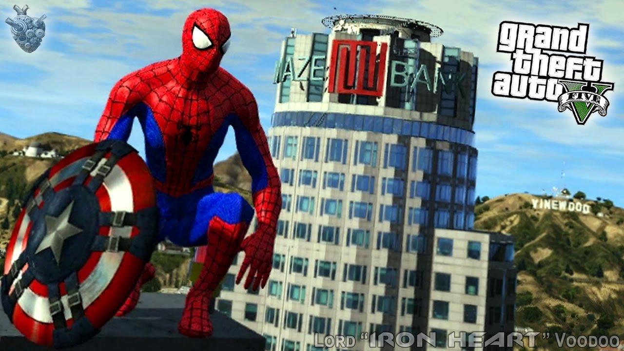 Gta V новый человек паук возвращение домой 2017 супергерои гта 5 Gta 5 Mods гта 5 моды 101