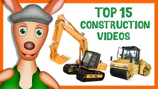 Top 15 Construction Videos For Kids | Preschool & Kindergarten Learning.