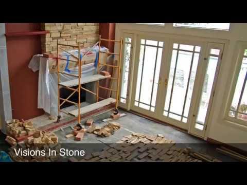 Stone Veneer Fireplaces PAINTED BRICK To STONE