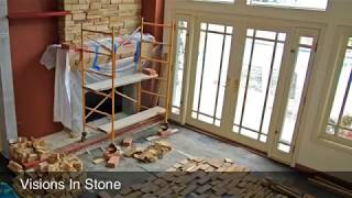 Stone Veneer Fireplaces Brick To Stone Transformation