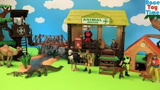 Wildlife Animals Toys and Animal Care Set For Kids Video