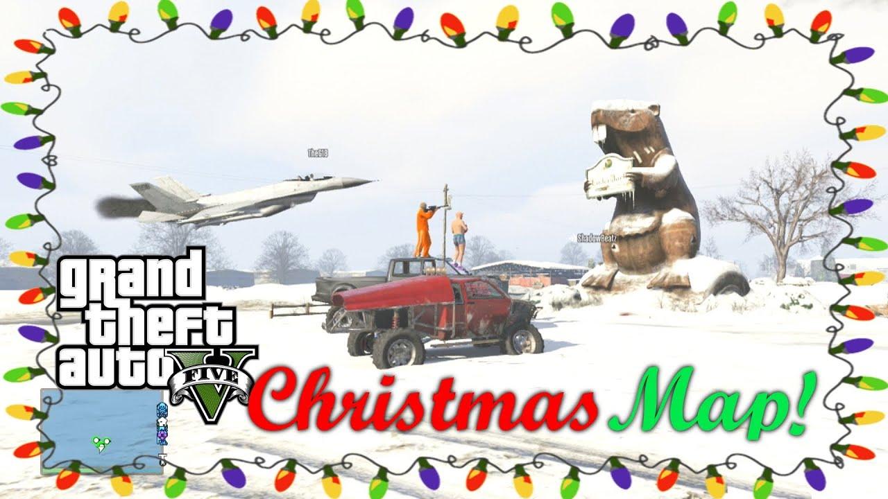 GTA 5 Christmas DLC Funny Moments! (GTA Online Christmas DLC Snow ...