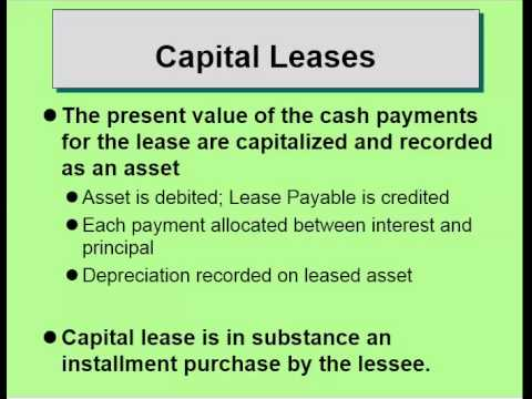 Capital Vs Operating Lease >> Operating Vs Capital Lease
