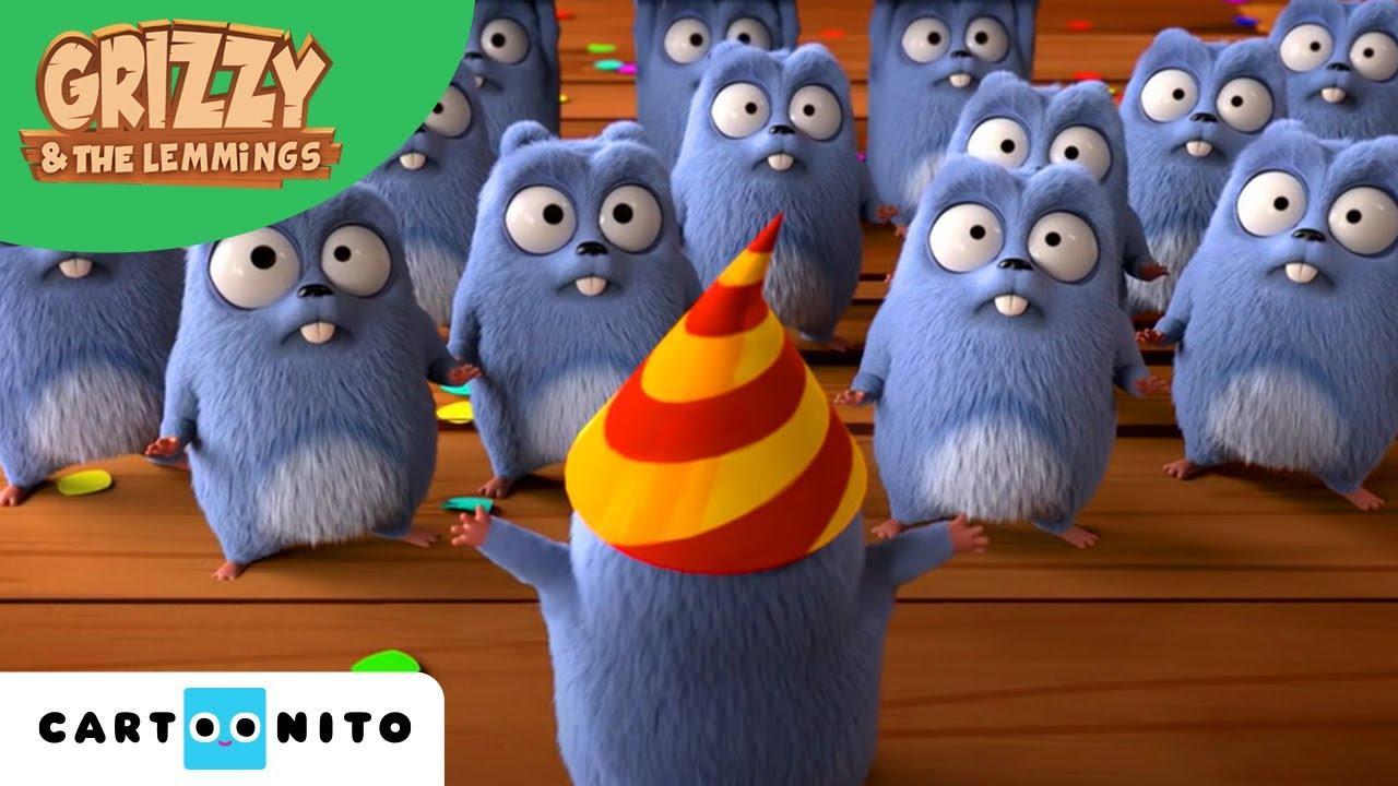 Grizzy I Lemingi Urodziny Leminga Boomerang Youtube