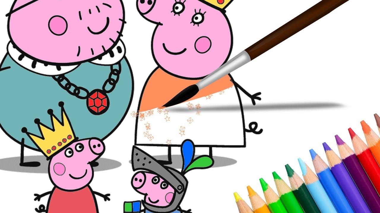 kleurplaat voor kinderen leer de kleuren peppa pig