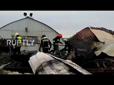 Russia: 7 dead after fire rips through hangar in Leningrad region