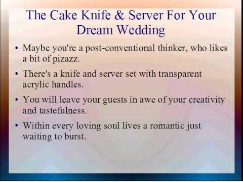 The Cake Knife & Server For Your Dream Wedding  From SilkFlowerWedding.COM