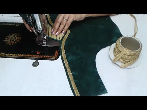 simple blouse design cutting and stitching / designer blouse for sarees