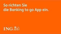 So richten Sie die Banking to go App ein.