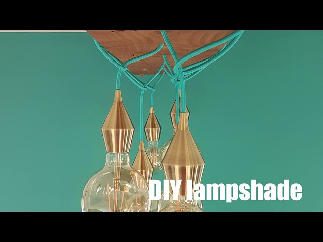 DIY lamp for a dining room
