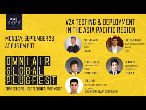 V2X Testing & Deployment in the Asia Pacific Region