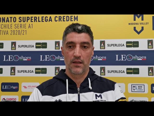 Andrea Giani in vista del match con Cisterna