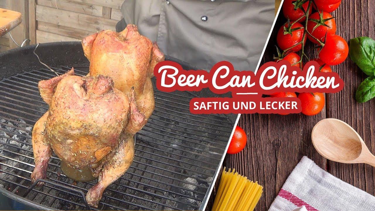 beer can chicken bierh hnchen vom weber kugel grill art of bbq youtube. Black Bedroom Furniture Sets. Home Design Ideas