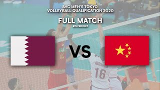 LIVE  QAT - CHN | AVC Men's Tokyo Volleyball Qualification 2020
