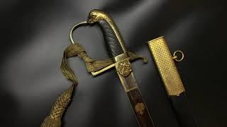 Видео обзор антикварной морской офицерской сабли Швеция модель 1824 года
