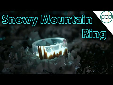 DIY Glowing Snowy Mountain Secret Wood Ring