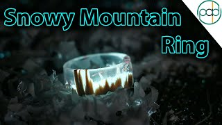 DIY Glowing Snowy Mountain Secret Wood Ring