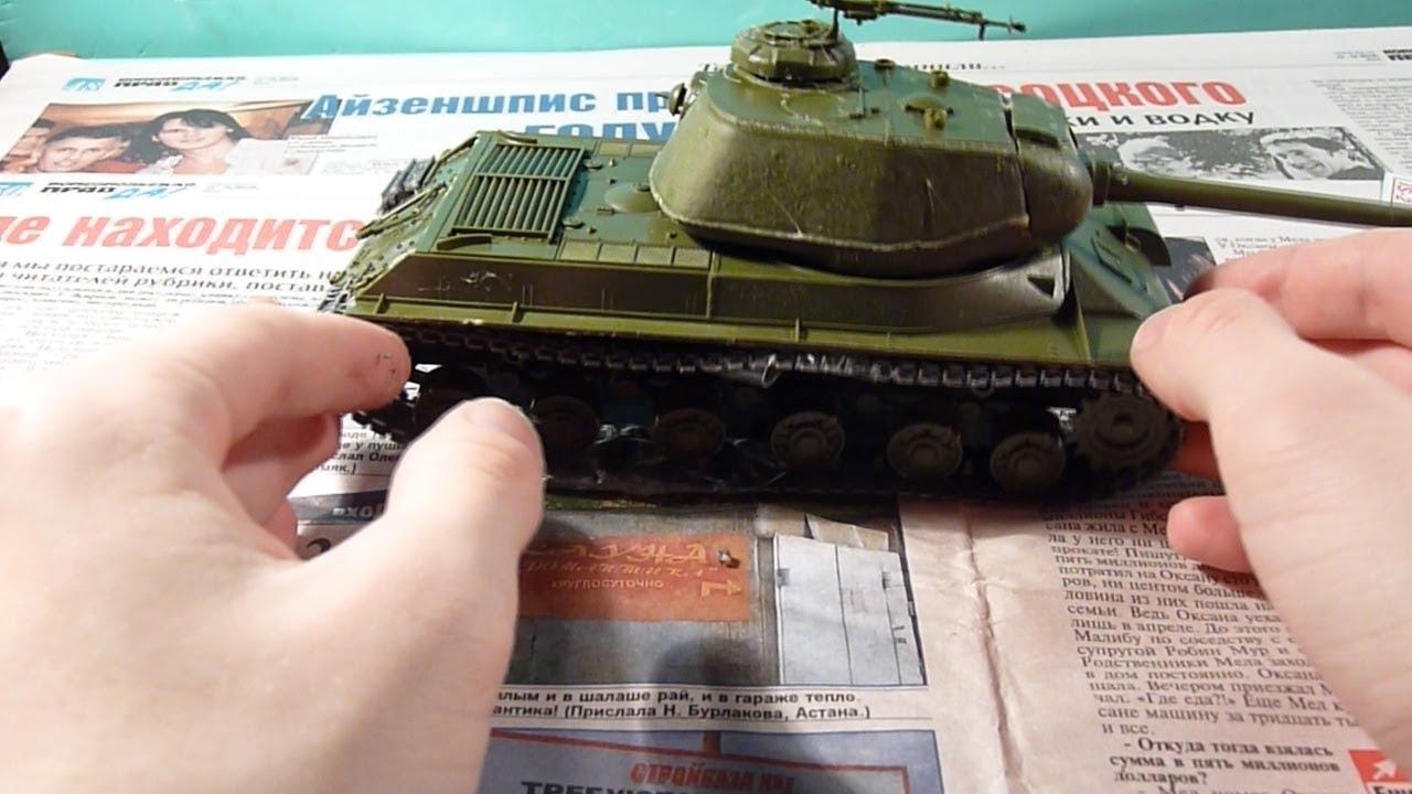 СБОРНЫЕ МОДЕЛИ Сборка модели танка Т-55 А масштаб 1:35 от SKIF .