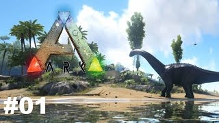 ARK Survival Evolved - Erste Schritte - Gameplay Deutsch / German #01