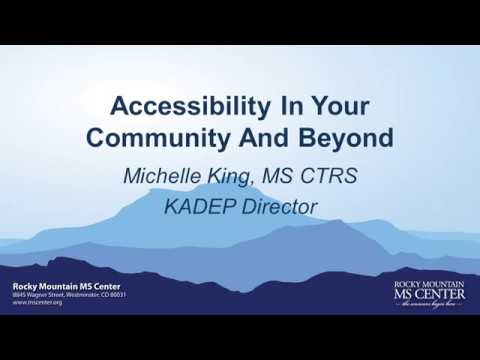 Multiple Sclerosis Webinar: Accessibility In Your Community And Beyond