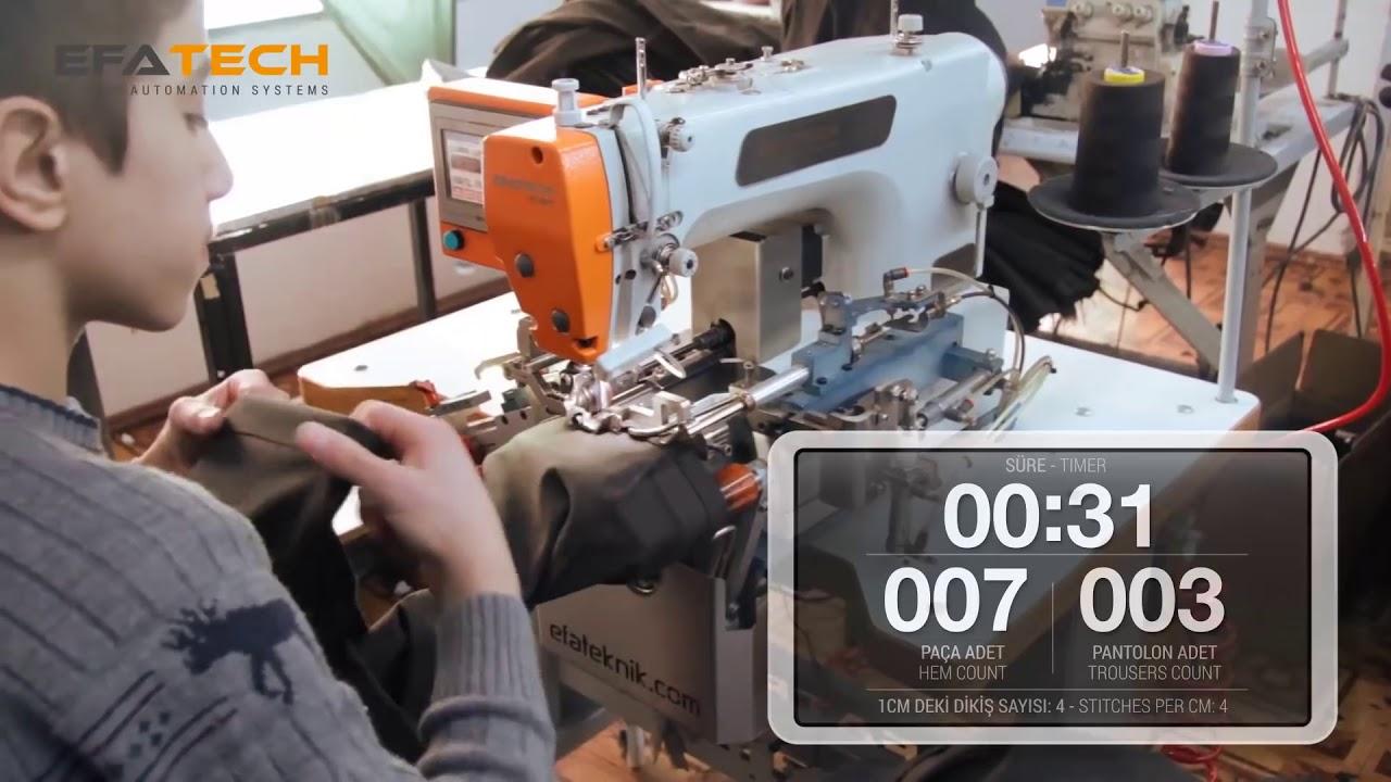 Máy may gấu quần tự động EFATECH PC-40V1 – Tính năng suất của máy