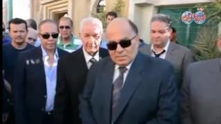 محافظ الدقهلية يشارك تشييع جنازة شهيد الواجب الوطني نائب مأمور قسم القصيمة بشمال سيناء