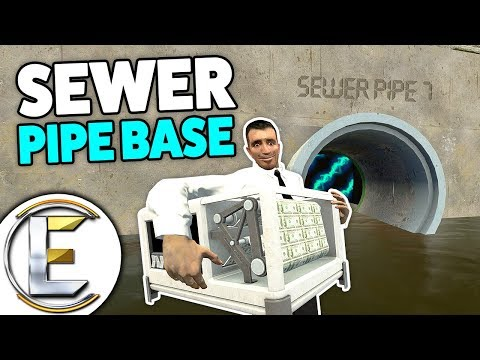 PIPE BASE - Gmod DarkRP Life (A Whole Base In A Sewer Pipe) Awesome Place To Put Money Printers!