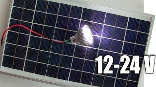 Светодиодная лампа для солнечной панели(Светодиодная лампа 12 - 24 вольта для солнечной панели. Мой канал https://www.youtube.com/user/3605041 Мой сайт http://www.master.org.ua..., 2016-07-04T06:39:39.000Z)