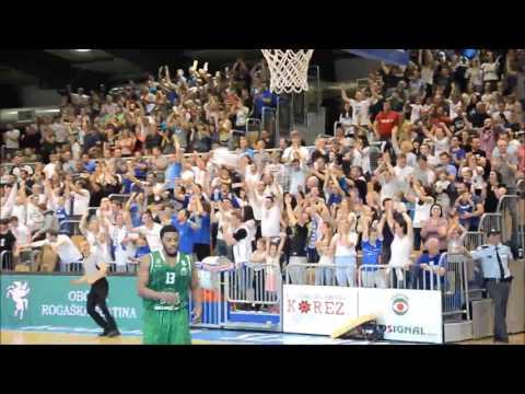 Utrinki s 1. finalne tekme Nove KBM Rogaška : Union Olimpija
