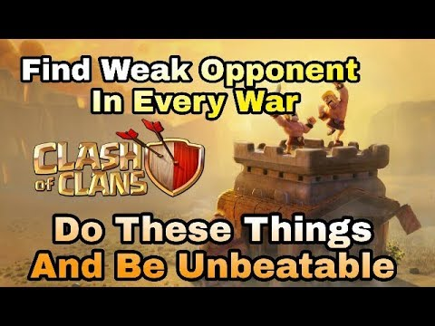 Find Weak War Opponent Everytime , Methods/steps Discussed In Hindi