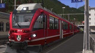 Train Simulator 2018 - Bernina Pass - RhB ABe 8/12 Allegra - BEX Autumn Southbound