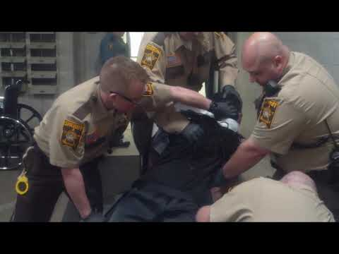 Ramsey County sheriff's correctional officer uses force on a restrained inmate