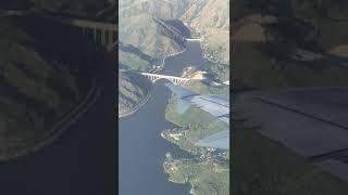 Desde un avión ingresando a Córdoba, así se ve el futuro puente José Manuel de la Sota