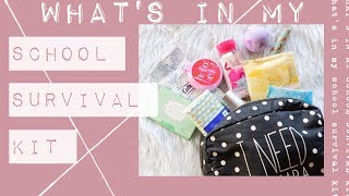 what's in my school survival kit | back to school essentials