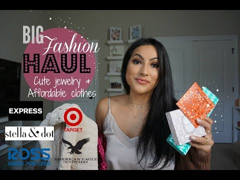 BIG FASHION HAUL// CUTE JEWELRY & AFFORDABLE CLOTHING // So many stores
