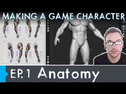 Making a Game Character: Episode 1 - Anatomy Basemesh