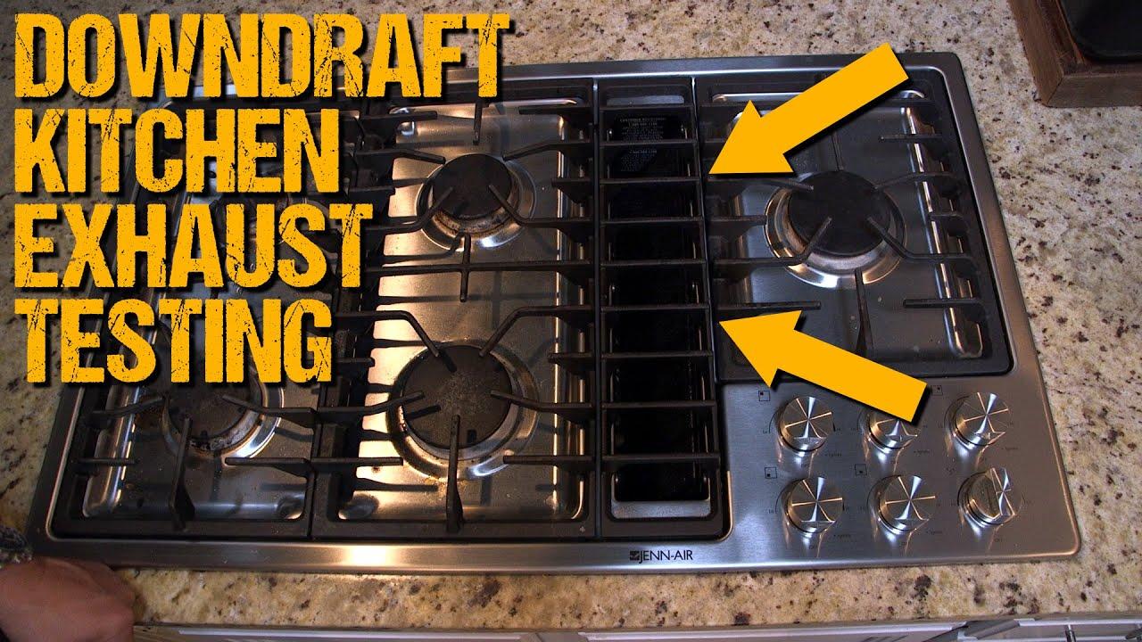 Down Draft Kitchen Exhaust Airflow