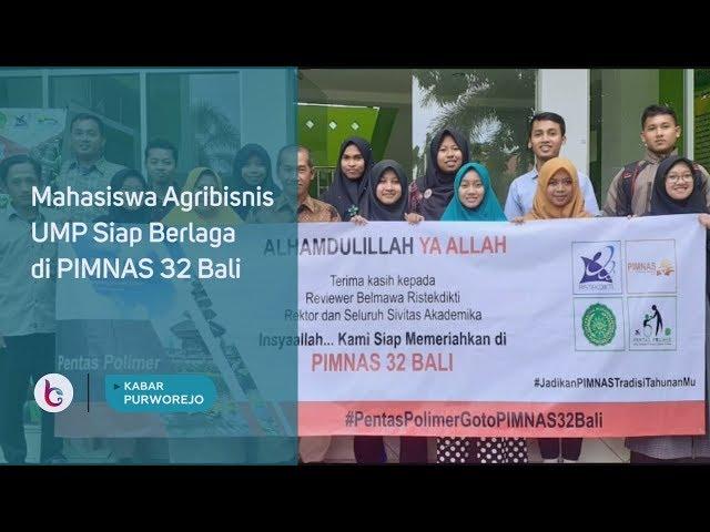 Mahasiswa Agribisnis UMP Siap Berlaga di PIMNAS 32 Bali